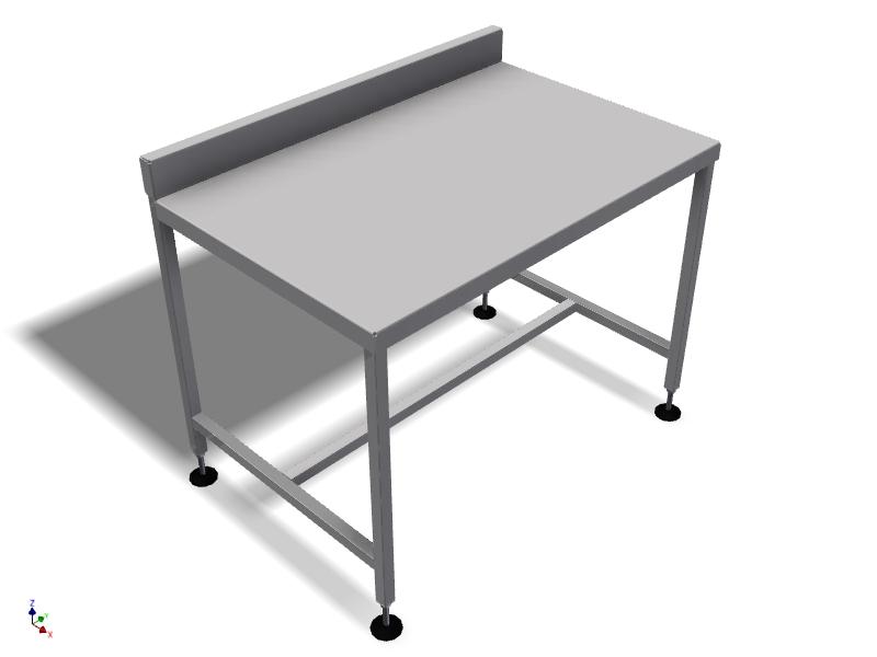 Table inox avec retour