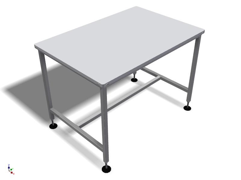 Table inox et plateau en pe hd